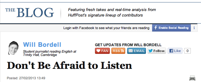 HuffPost Don't Be Afraid to Listen